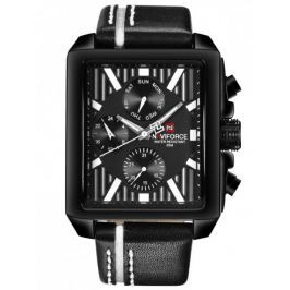 Męski zegarek NAVIFORCE - NF9111 (zn051a) - black/white
